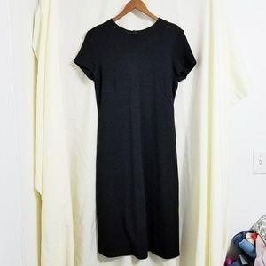 Banana Republic black wool dress short sleeve midi